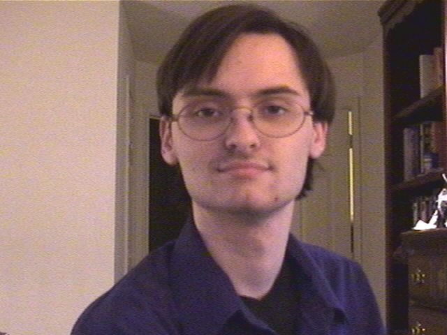 Old picture of me, see, I had glasses!