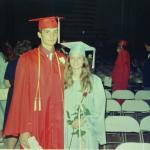 Chris and Peggy at HS graduation